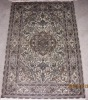2x3ft hand knotted Persian pure silk carpet