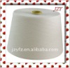 30s/1 raw white 100% polyester spun yarn used for weaving