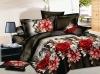 3D flower screen printed bed sheet