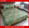 3PCS 100% polyester queen size Emulation silk printing bedding sets