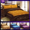 3Pcs Satin Embroidery Comforter Set