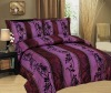 3Pcs Taffeta Flocking Comforter Set
