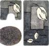 3pcs gray bathroom use waterproof carpet