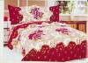 4PC/7PC 100% COTTON blue bedding set bedding set red and white bed sheet