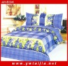4pcs polyester fabric blue flowers bed sets