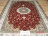 5*8 oriental handknotted silk carpet