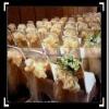 50 Wedding Champagne Shimmering Organza Chair Sash