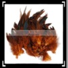 50pcs Home Decor Chicken Decorative Feathers Brown