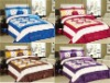 5Pcs Satin Embroidery Comforter Set