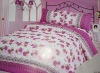 5pcs peach skin bedsheet set