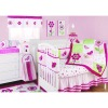 6-10pcs Girl Embroidery Baby's Bedding Set Pink