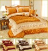 6Pcs Taffeta Embroidery Comforter Set