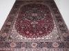 6X9ft handknotted Persian silk carpet