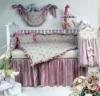 6pcs baby girl crib bedding