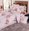 7pc bed sheet sets with beautiful lace