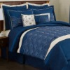8Pcs Embroidery Comforter Set