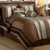 8Pcs Faux Silk Comforter Set