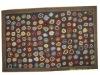 90line wool hand hooked rug