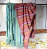 Acrylicl/Wool blended knitted blanket throw bedding home textiles