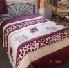 Appliqued patchwork comforter bedding set