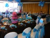 BANQUET HALL CHAIR COVER WITH SATIN SASHAS