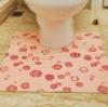Bathroom accessories-PVC Foam Printed Toilet Mat,pedestal mat