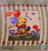 Bear riding on a bicycle polyester blanket
