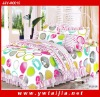 Beautiful Colorful 100%cotton Queen Size Bedsheet Set