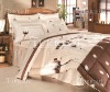 Bed sets with allover printed sheets duvets and pillows in sateen
