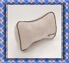 Beige and Delicate Jacquard Velve Fabric Car Pillow Neck Rest