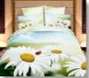 Big flower 100% cotton reactive printed bedding sets
