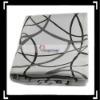Black Curve Wave Throw Pillow Case Cushion Cover