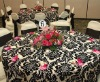Black and White damask Tablecloth/ Pattern Table Linen
