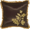 Bohemian Blossom, Brown and Ocher Throw Pillow(HZY-P-8113)