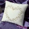 Bridal silk ring pillow