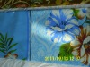 Bule&White big flowers printing brushed pongee fabric for bedding