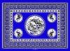 CROCODILE BLUE KG17.3 KANGA FABRICS