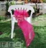 CS0004 Fuchsia organza chair sashes