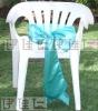CS0016 Gorgeous blue satin chair sash