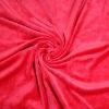 CVC Fabric Red Velvet For Sportswear