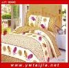 Charming feather print bedding set/ beautiful design bedding set/ good quality bedding set/printed 4pcs bedding set