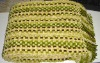 Chenille basket woven throw