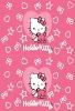 Children kitty animal print fleece blanket
