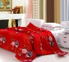 China Traditional Wedding 100%cotton and 90%Cashmere Red Handmade Quilt