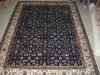 Chinese handmade 100% natural silk turkish 4x6 double knotted hereke carpet