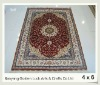 Chinese handmade 4x6 100% natural silk turkish double knotted pray rug