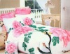Chinese traditional flower printed cotton bedding set