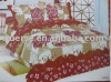 Colorful Flower Printed 4pcs bedding set