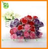 Colorful rose flower gift towel cake