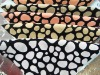 Colorful spot design flock sofa fabric